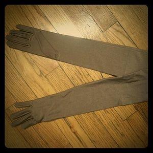 Bronze formal gloves